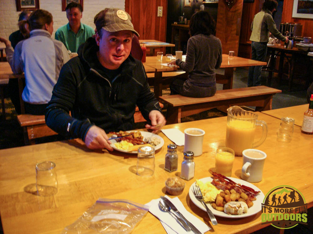 The awesome breakfast included with your stay at the Adirondak Loj at Heart Lake, Lake Placid, NY, Adirondacks