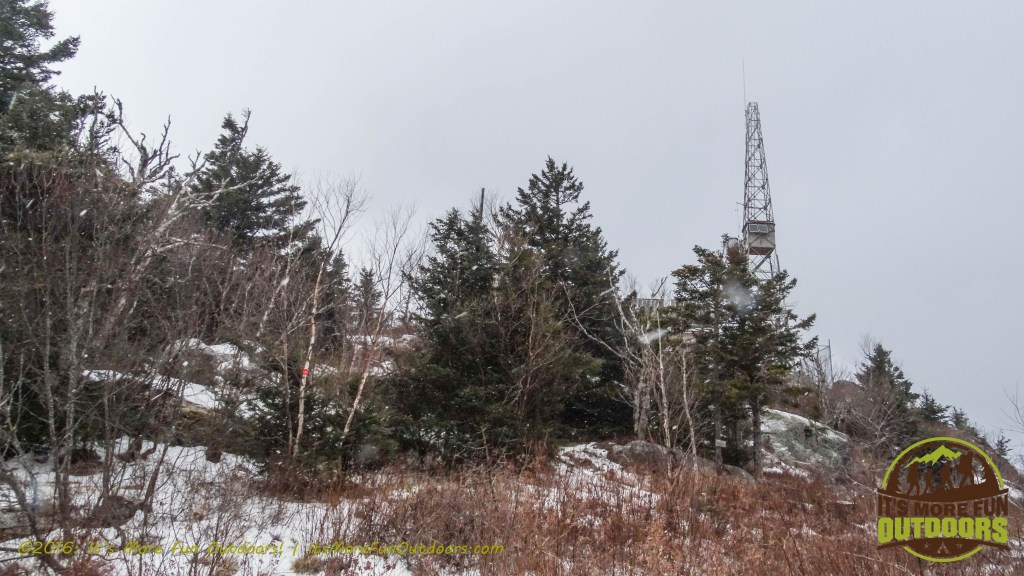 First views of the fire tower! February 5, 2016 Black Mountain: My First SOLO Winter Fire Tower Challenge Hike!