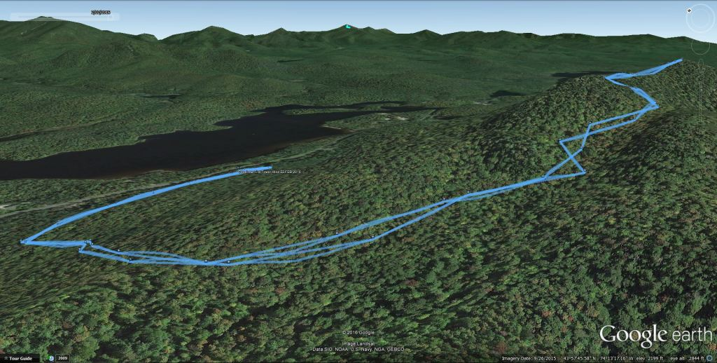 Goodnow Google Earth track from the GPS! 2/22/16: Goodnow Mt Winter Fire Tower Challenge Hike with VIDEO!