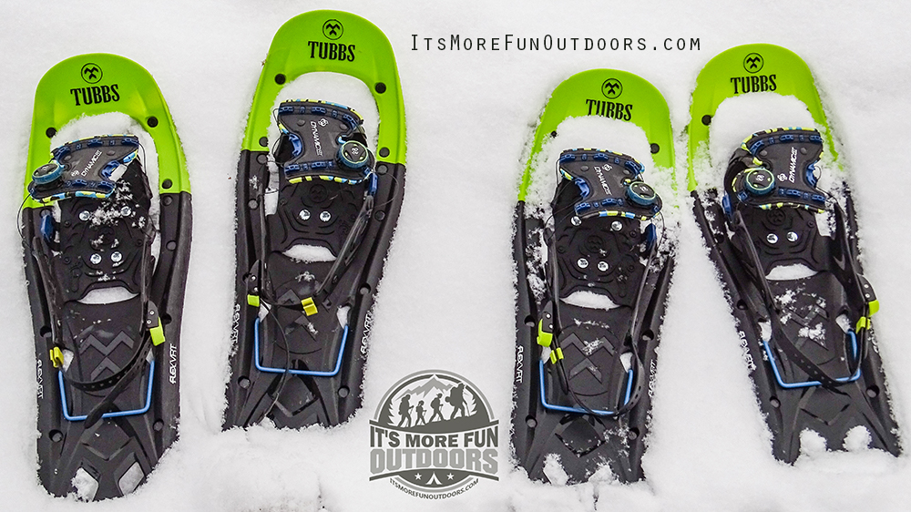 YESSSS ready for some Winter FUN! Our Tubbs Flex VRT snowshoes. Blue Mountain Winter Fire Tower Challenge Hike!
