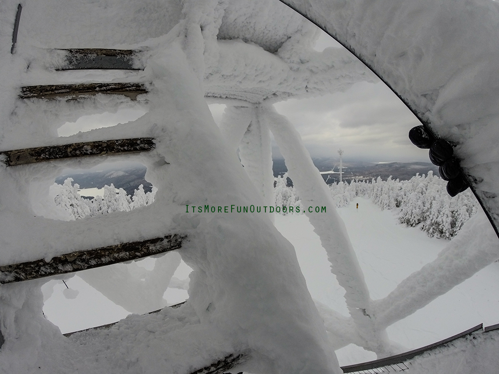 Lucky GoPro shot from my tower climb - unaware the camera wasn't in video mode :( Blue Mountain Winter Fire Tower Challenge Hike February 5, 2017.