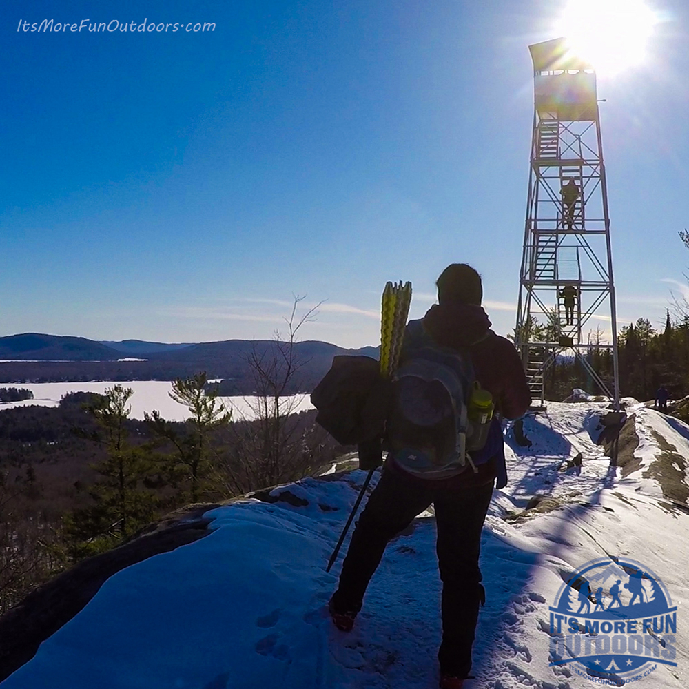 Lots of cliffs at the summit, keep little ones close. 3/5/2017: Bald (Rondaxe) Mountain Winter Fire Tower Challenge Hike!