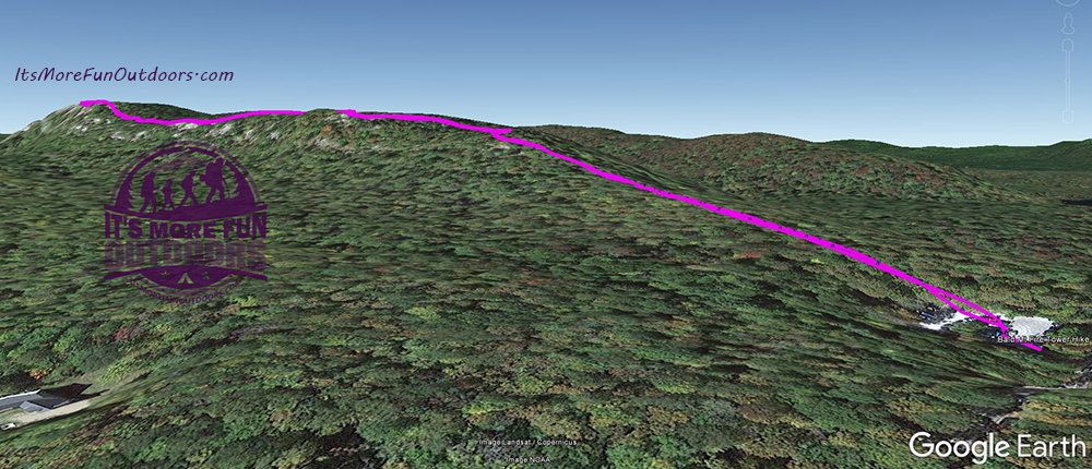GPS track overlay on Google Earth. Looks fun, right?!?! 3/5/2017: Bald (Rondaxe) Mountain Winter Fire Tower Challenge Hike!