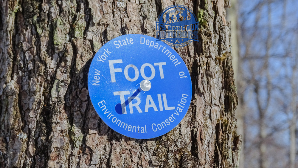 Blue trail markers, plenty of them, all the way to the summit. Stillwater Mountain Winter Fire Tower Challenge Hike! 3/5/17