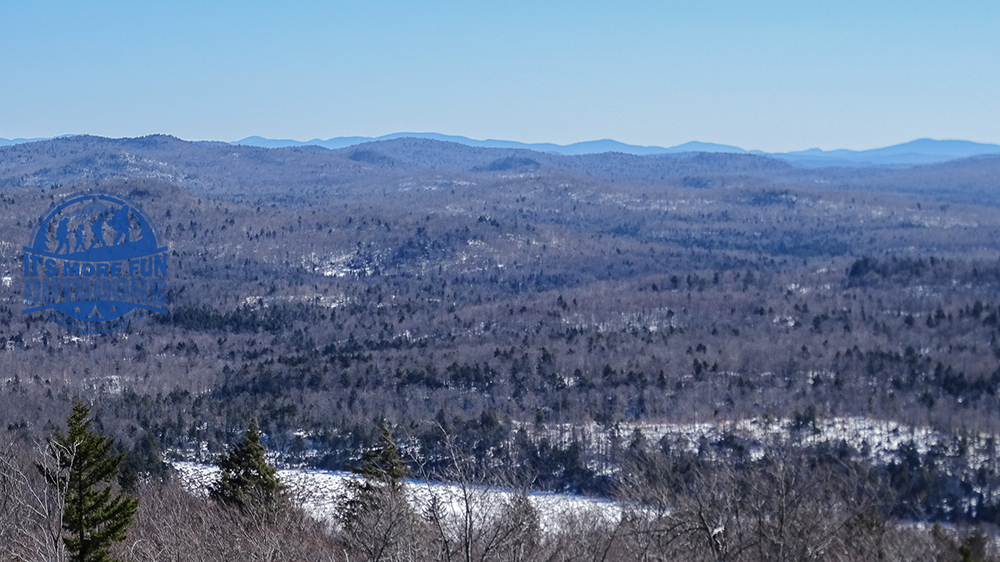 GREAT views of a place we will explore by kayak this summer! Stillwater Reservoir! Stillwater Mountain Winter Fire Tower Challenge Hike! 3/5/17