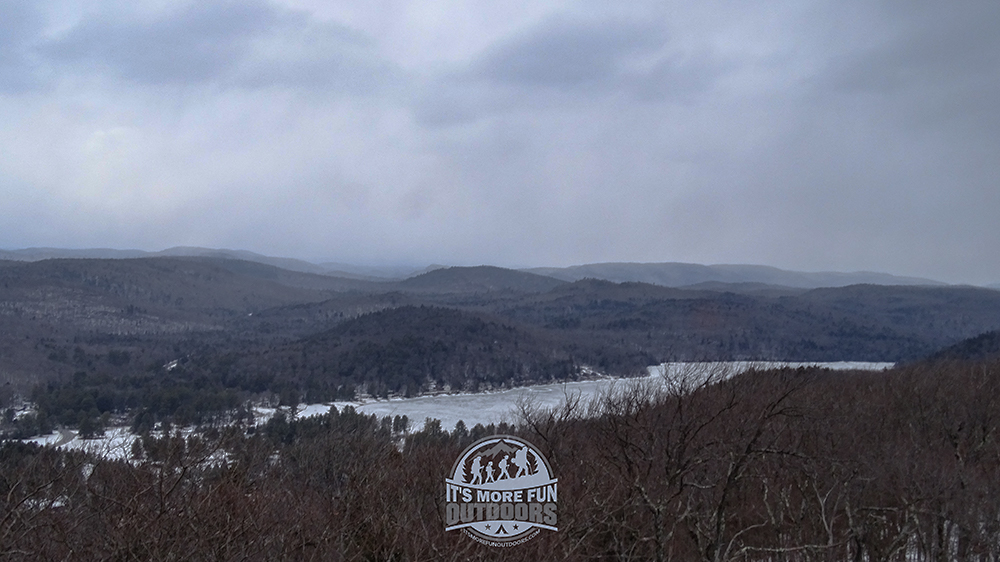 Beautiful views from the tower on a not-so-pretty day. But it got better :) 2/6/2016: Kane Mountain Winter Fire Tower Challenge Hike!
