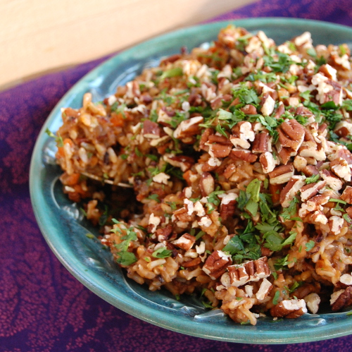 Brown and Wild Rice Pilaf