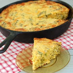 Cornbread with Mustard Greens and Cheese 400
