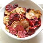 Roasted Beet Chips with Sage
