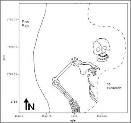 Plan of Burial 1, Unit 3766, 5433