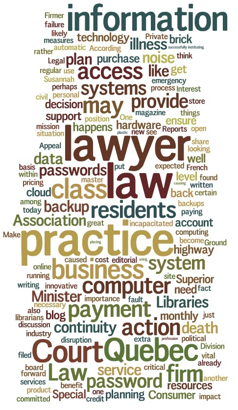 Various Legal Words from Slaw dot CA