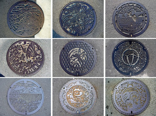 Beautiful Manhole Art on the Streets of Japan #3 Beautiful Without Paint