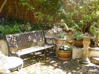 The courtyard is a great place to relax