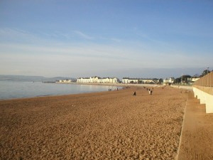 The lovely sandy beach at Exmouth