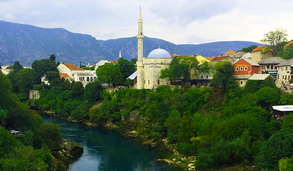 View from Stari Most, Mostar, Bosnia & Herezgovina