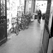 Bicycles at the Entrance of a Cafe | Ποδήλατα στην Είσοδο μιας Καφετέριας