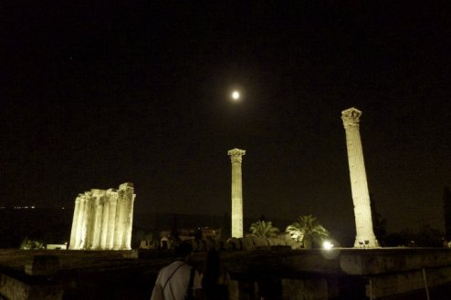 Olympeion Under the Full Moon