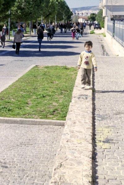 Kid on a Walling