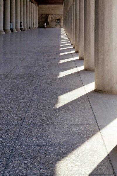 Sunlight Through Columns