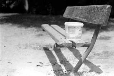 A Bucket on a Bench