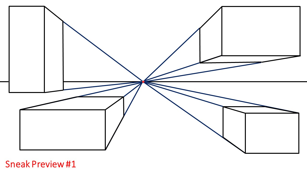How to Draw 3D Boxes Using 1-Point Perspective: A Site