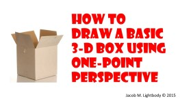 HowtoDrawa3DBox1PointPerspective Title