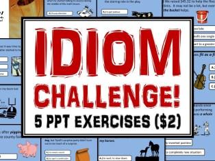 Idiom Challenge Main Title PPT