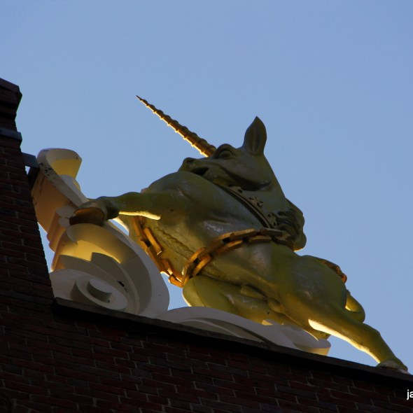 The unicorn at the Old State House is surprisingly anatomically correct