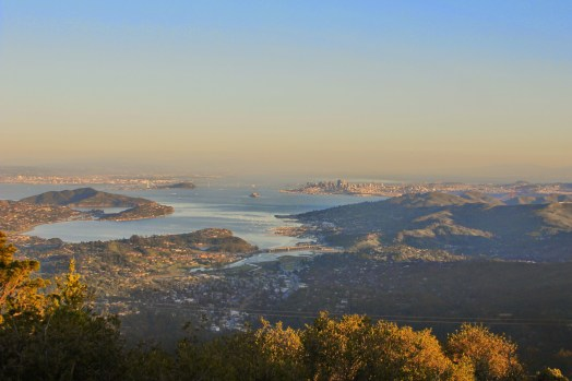 The view from atop Mt Tam