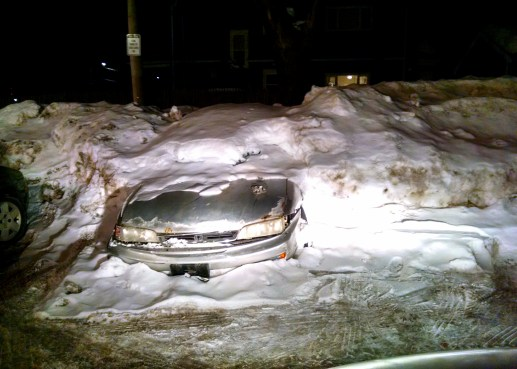 What happens if you don't shovel out your car.