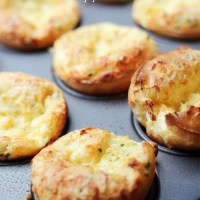 Cheddar Chive Popovers from Clara Persis