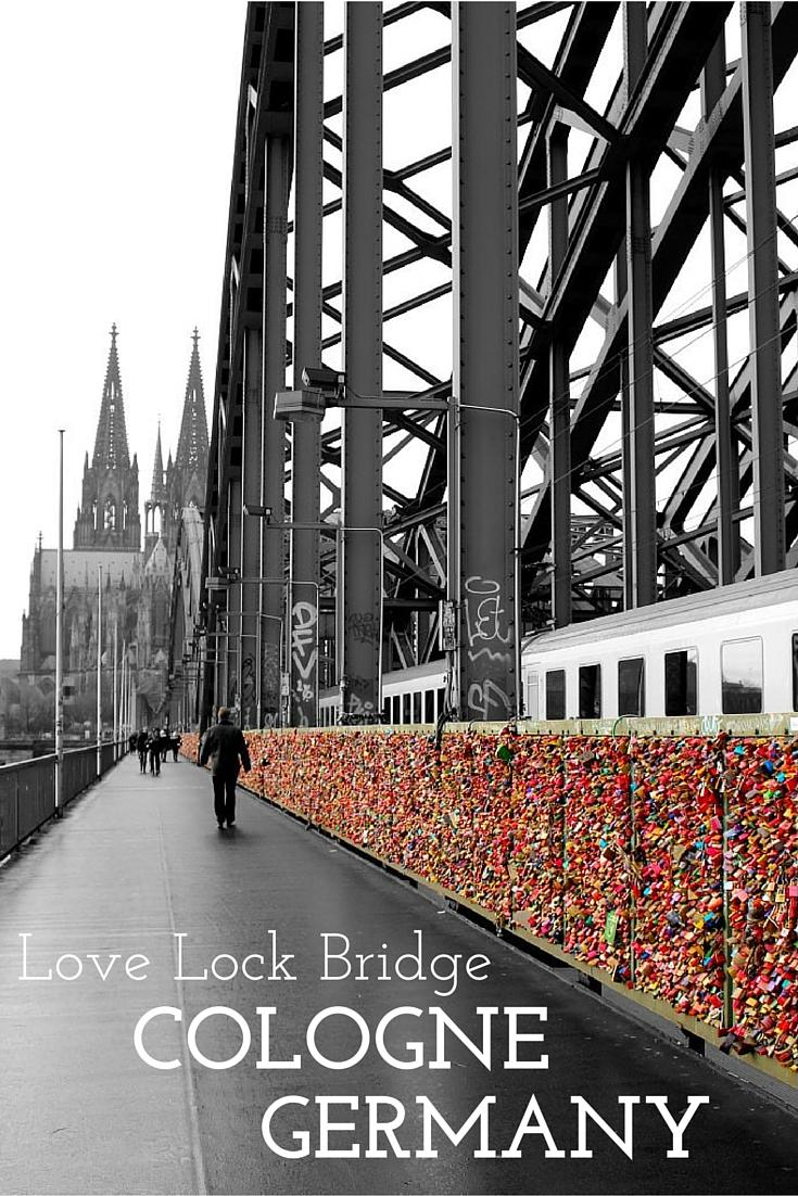 Love lock bridge cologne germany