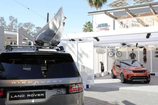 VENICE, CA - NOVEMBER 11: The Land Rover Discovery SUV made its North American debut at an interactive consumer popup activation in the iconic Venice neighborhood of Los Angeles on Abbot Kinney Boulevard on November 11, 2016 in Venice, California. (Photo by Neilson Barnard/Getty Images for Jaguar Land Rover)