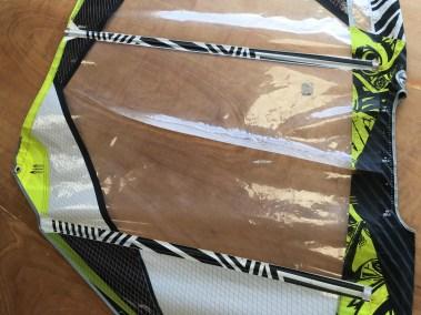 Changement de panneau monofilm north windsurf cassé - voilerie j'ai cassé ma voile brest