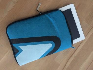 Housse de tablette : Ipad voile aile recyclée recyclage voilerie brest 1