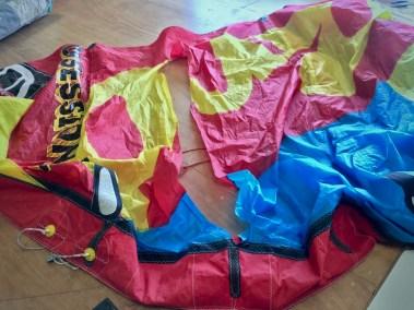 Voilerie J'ai cassé ma voile brest - réparation aile de kitesurf rrd obsession spi déchirée