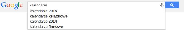 Jak wybierać słowa kluczowe - sugestie Google