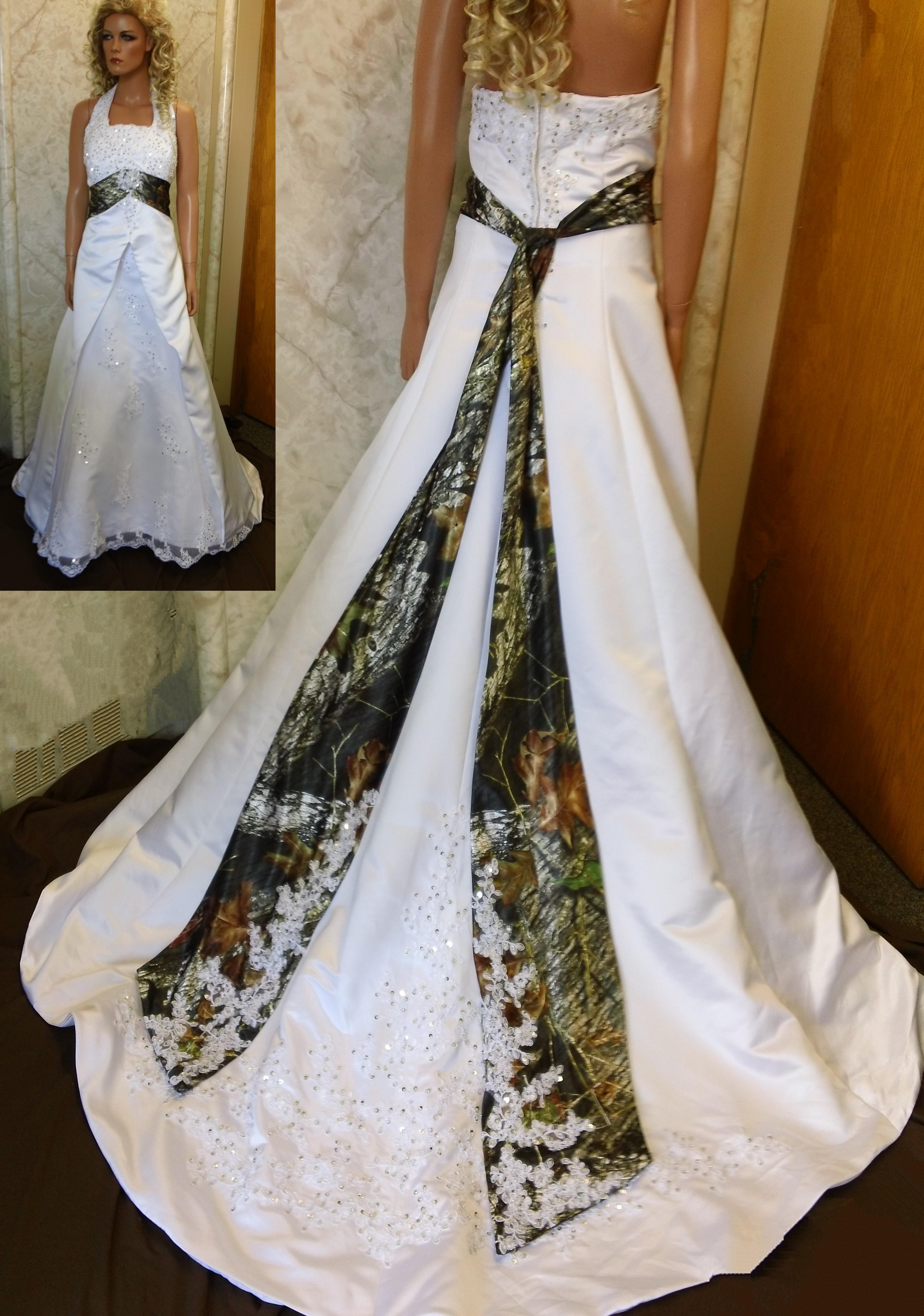 Aimee 74 wedding gown camouflage wedding dress white and camouflage wedding dresses