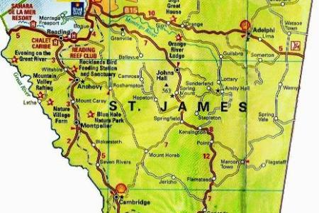 st james jamaica map