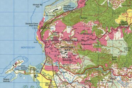 montego bay topo map