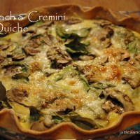 Spinach & Cremini Quiche