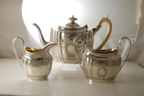 Medium Of Silver Tea Set