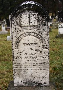 Moses Glimanhaga grave marker in Yellow Creek Cemetery. Photo by Patti Sommers, 2010.