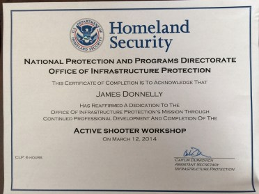 DHS certificate