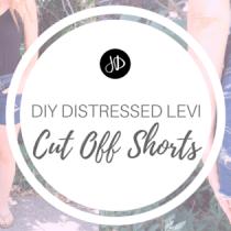 DIY Distressed Levi Cut Off Shorts