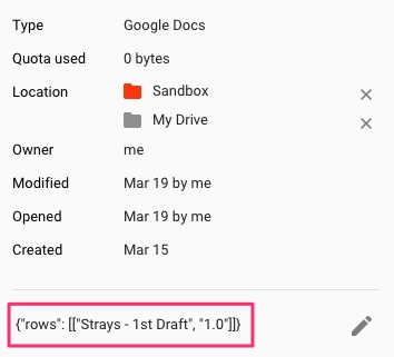Google Docs Writing Tracker Project Info