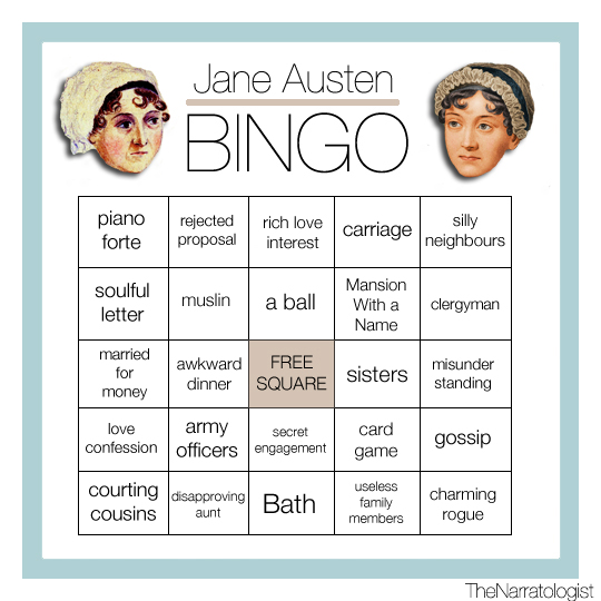 Bingo Literário Jane Austen