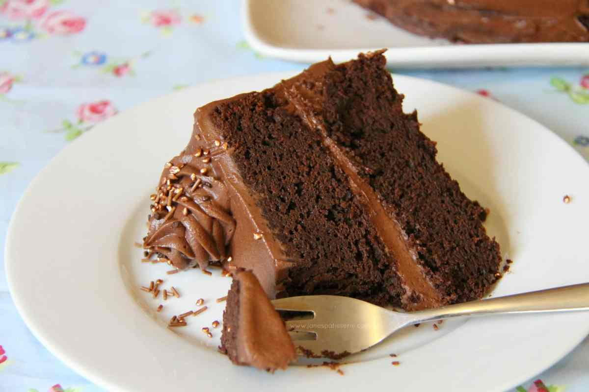 Chocolate Fudge Cake with the BEST Chocolate Frosting ever!