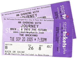 Journey Ticket Stubs