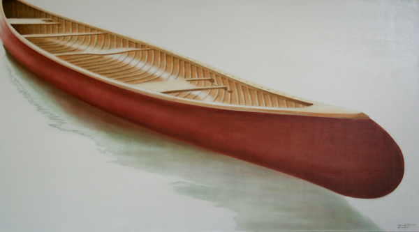 William's Ride - ©2011 Janice Tanton. Oil on linen. 40x72
